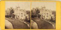 UK Scozia Hawthornden Castle Foto G.W.Wilson , Stereo Albumina PL62L8