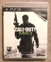 Call of Duty: Modern Warfare 3 (Sony PlayStation 3, 2011) Complete