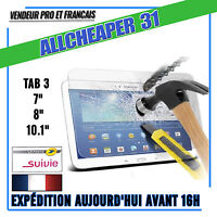 Vitre protection VERRE Trempé Samsung Galaxy TAB 3 film protecteur AUTHENTIQUE