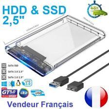 """2018 Nouveau boitier externe transparent USB 3.0 pour disque dur HDD SSD 2.5"""""""