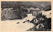 FRASAR CANYON BRITISH COLUMBIA~CISCO SISKA RAILROAD BRIDGES~REAL PHOTO POSTCARD