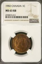 Canada 1902  1 Cent NGC MS 63 RB