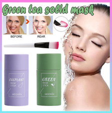 Green Tea Eggplant Purifying Clay Stick Mask Oil Control Anti-Acne Fine Solid UK