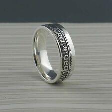IRISH STERLING SILVER GAELIC Bright Love of My Heart Wedding Ring Rail Edge BORU