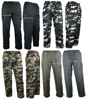 New Mens Thermal Lined Trousers Plain Camo Joggers Pattern pants Fleece Winter s