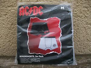 AC/DC 2 Boxershorts Größe M Unterhose High Voltage Underwear Slip Boxer Shorts
