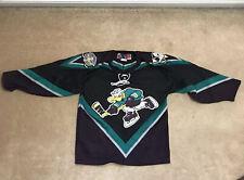 Vintage Authentic Bauer Cincinnati Mighty Ducks Jersey Youth L/XL Hockey AHL NHL