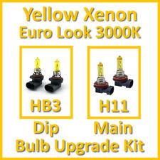 Warm White 3000K Yellow Xenon Headlight Bulb Set Main Dip Fog HB3 H11 Kit