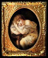 Hermosa Casa de muñecas en miniatura de imagen en marco de barrido de oro no. 111