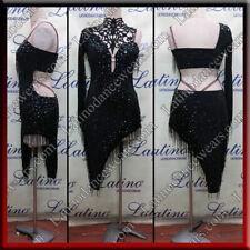 Latin Rhythm Ballroom Salsa Dance Competition Dress Size S M L (ls25a)
