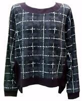 French Connection-Jumper Sweater sweatshirt-sz-16 plus punk goth casual