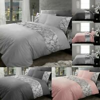 Pintuck Bedding Set Pinch Pleated Duvet Covers 100% Egyptian Cotton Double King