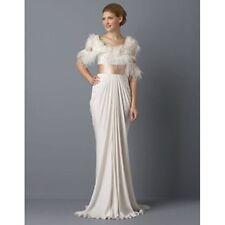 BCBG MAXAZRIA Feather Top Draped Dress White Size 10 #424