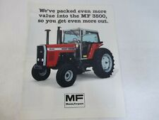 Massey Ferguson Mf 3500 Series Models Mf 3545 3525 3505 Tractor Brochure