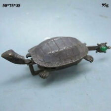 Chinese Old Style Carved Brass Lock Rare turtle shape
