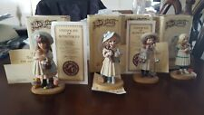 4 LIMITED EDITIONS JAN HAGARA FIGURINES FROM THE 80's with boxes and most papers