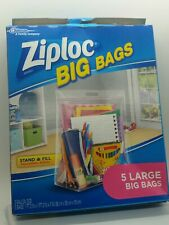New Ziploc Big Bags, Expandable Bottom, 5 Counts Per Pack, Large,