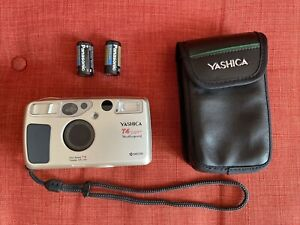 Yashica T4 Super D 35mm film camera with Carl Zeiss Tessar f3.5 35mm lens TESTED