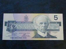 1986 UNC Canada $5 Five Dollar Birds of Canada ENN Crow / Bouey Yellow BPN