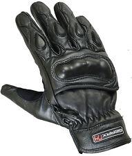 Gants de protection Moto Solide Rigide Coque Carbone Cuir Motocycle Réflective