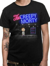 Official RICK AND MORTY T Shirt Bartender Creepy Morty Black NEW S M L XL XXL