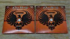 2 Sets Packs Dean Markley BLACKHAWK 8013 MEDIUM COATED Acoustic Strings (13-56)