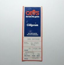 Cleveland Cavaliers NBA Basketball Vs Spurs George Gervin Signed Ticket Stub 89
