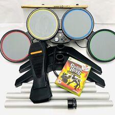 Xbox 360 Guitar Hero - RockBand Wired Drum Kit & World Tour Game -VGC- *Tested*