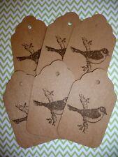 Bulk 6 Handmade Bird birthday thank you Gift Swing Tags - Stampin Up