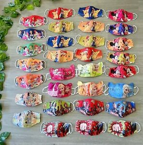 **NEW Washable Cotton Face Mask for Children (Small Size) (22 designs available)