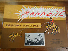 Vintage Complete 1950 Simsco Magnetic Cowboy Roundup Game instructions & pieces