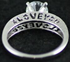 BNWOT Costume jewellery ring solitaire style I LOVE YOU U.K. Size P