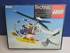 lego 8640 vintage TECHNIC POLAR COPTER HELICOPTER set COMPLETE instructions D35