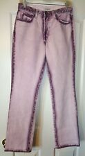 GUESS VTG USA PURPLE OVER DYE ON WHITE JEANS 28 (28X30.5)