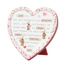 Boofle Wooden Heart Shaped I Love You Plaque Lovely Gift Idea