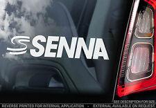 Ayrton Senna 'S's - Car Window Sticker -F1 Formula 1 Mclaren 'DOUBLE ESSES' TYP3
