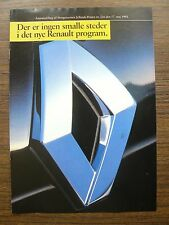 Renault Program New Renault 19 Ad Brochure 1992