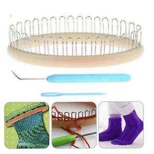 1x Sock Weaving Knitting Loom Kit with Knitpick and Needle New US