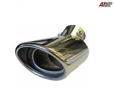 Steel Exhaust Trim Tip Muffler Chrome Tail Car Van 57mm Universal Curved UK Stoc