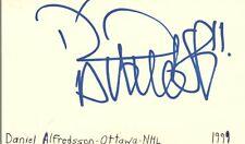 Daniel Alfredsson Ottawa Nhl Hockey Autographed Signed Index Card