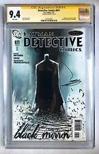 DETECTIVE COMICS #871 CGC SS 9.4 SIGNED JOCK BLACK MIRROR BATMAN SNYDER KEY