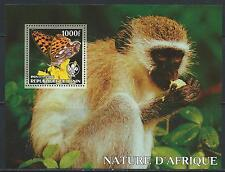 Benin -  Beautiful MNH Souvenir Sheet ...Monkey & Butterfly