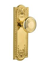 Nostalgic Warehouse Deco Passage Door Knob with Meadows Plate
