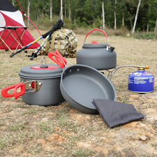 OUTAD Camping Cookware Outdoor Hiking Cooking Picnic Pan Pot Dishcloth Set OK