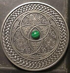 "FIJI 10$ 2016 celtic  MANDALA ART coin  3oz .999 silver ""minting of 500"""