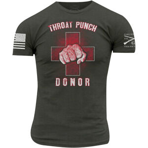 Grunt Style Throat Punch Donor 2.0 T-Shirt - Dark Gray