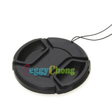 52mm Front Lens Cap Hood Cover Snap-on with cord for Nikon Canon Sony Camera