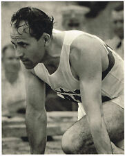 1936 German Olympic Games Borchmeyer Sprinter - Riefenstahl Photo Gravure Print