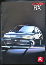 THE CITROËN BX RANGE NOVEMBER 1989 SALES BROCHURE (FRENCH)