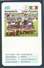 TOP TRUMPS-EUROPEAN CLUB FOOTBALL-1992- #4D-SAMPDORIA-LUIGI FERRARIS
